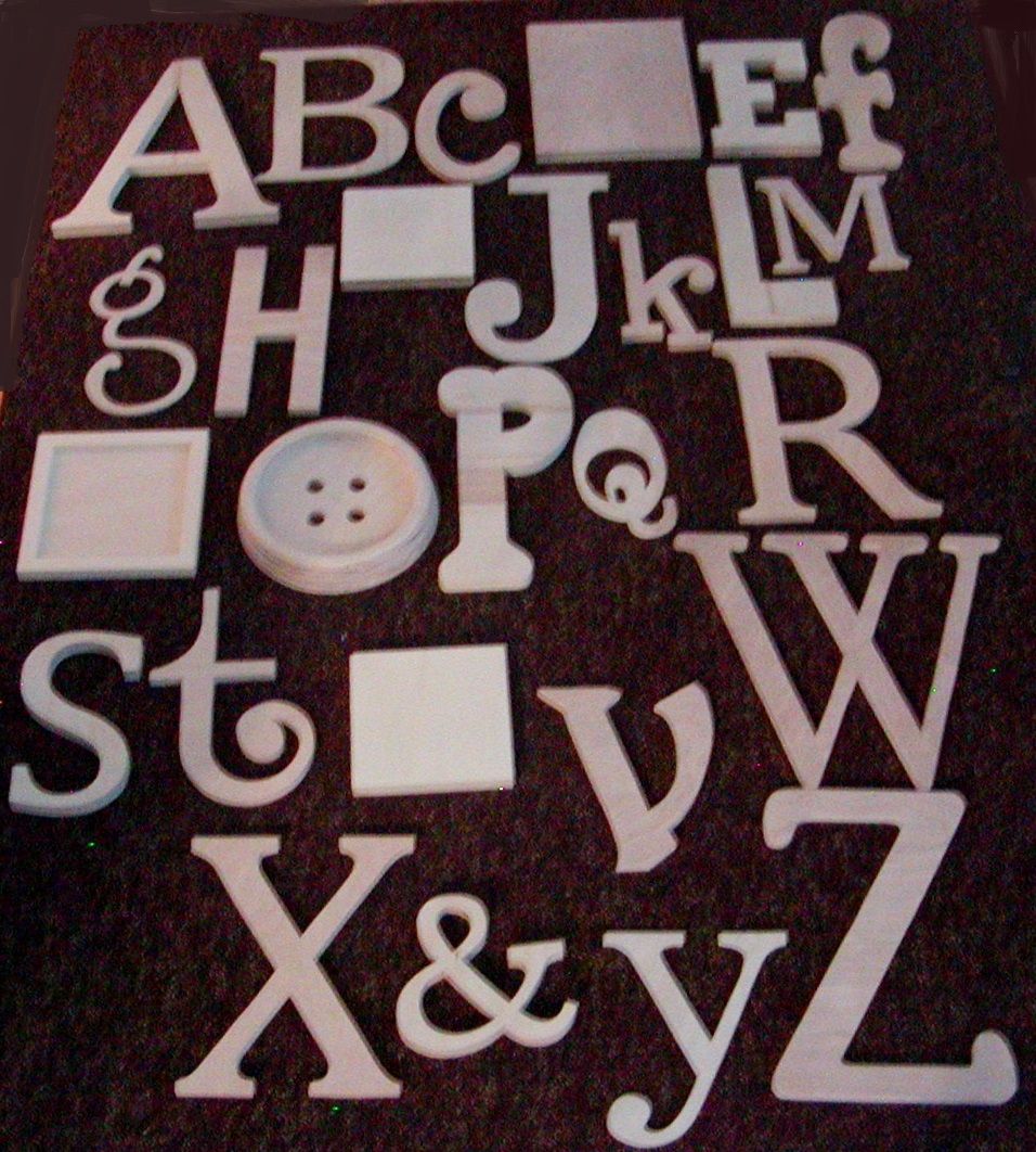 alphabet set wooden letters alphabet wall abc wall unpainted 12 to 6 letters various thicknesses