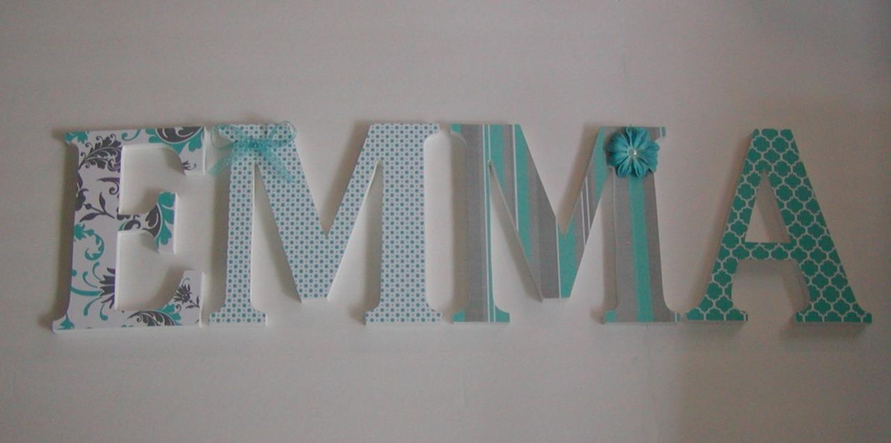 wood letters nursery decor any 4 letter name custom made to your